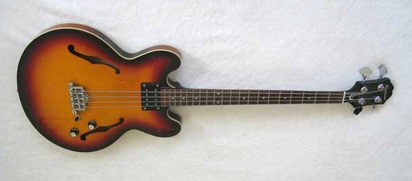Epiphone Rivoli Semi Accoustic Bass Guitar