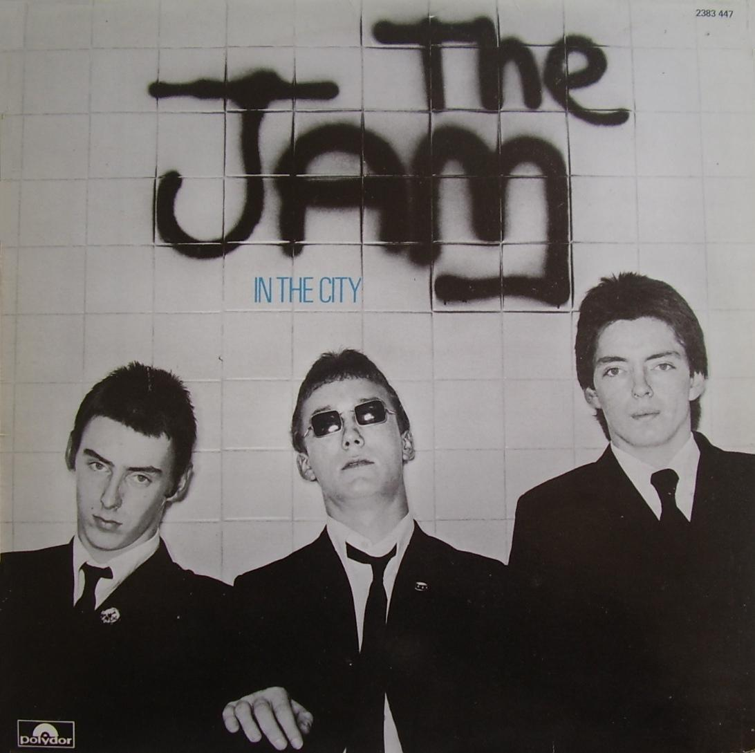 The Jam album In The City front cover