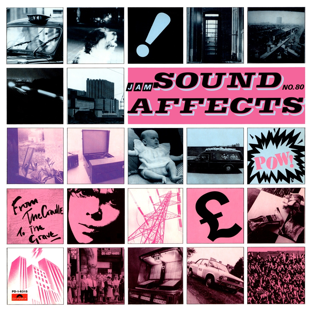 The Jam album Sound Affects,t front cover