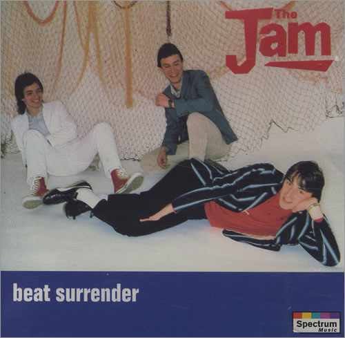 The Jam compilation album, Beat Surrender, original front cover