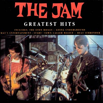 The Jam compilation album, Greatest Hits, front cover