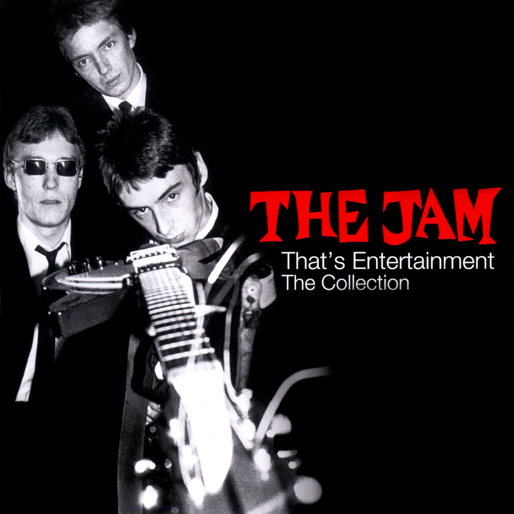 The Jam compilation album, That's Entertainment, The Collection, front cover