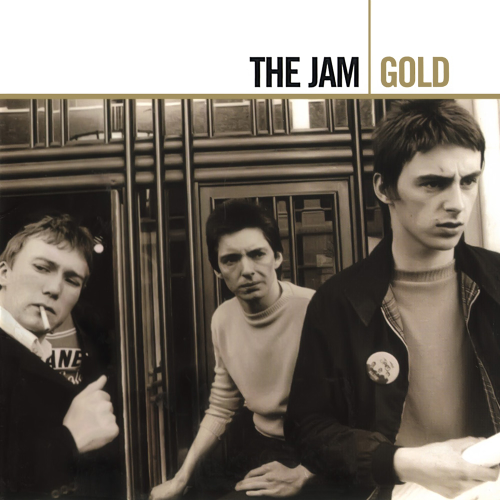 The Jam compilation album, Gold, front cover