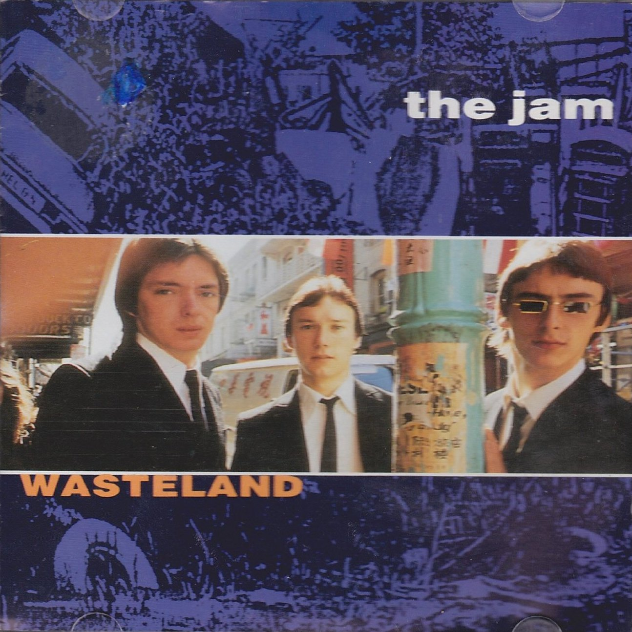 The Jam compilation album, Wasteland, front cover