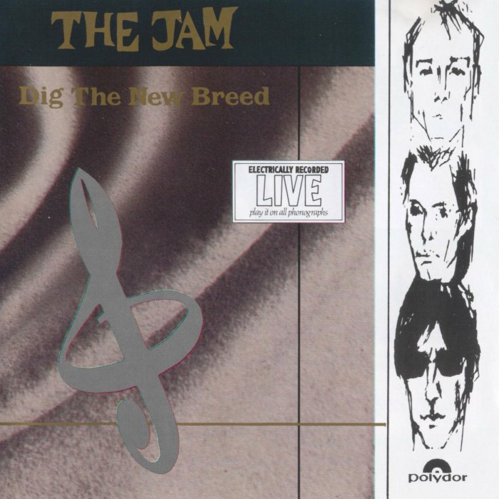 The Jam live album, Dig The New Breed, front cover