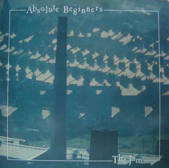 The Jam single Absolute Beginners, front cover