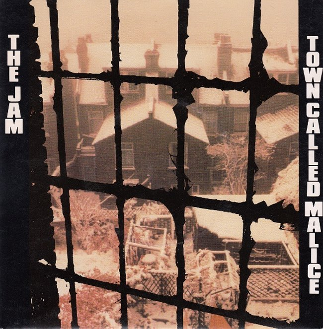 The Jam single Town Called Malice, front cover