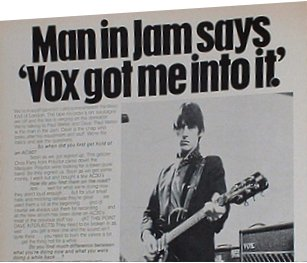 Paul Weller advertising Vox amps