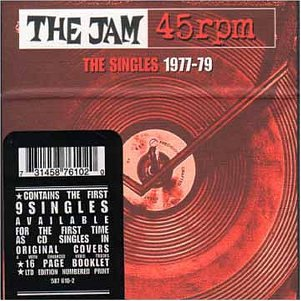 The Jam single box set 45rpm - The Singles 1977-79, front cover
