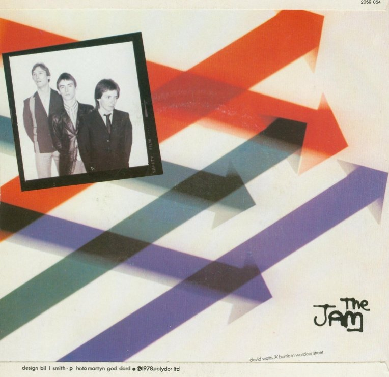 The Jam single David Watts, backcover
