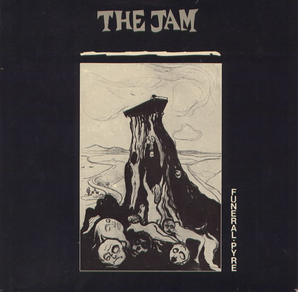 The Jam single Funeral Pyre, front cover