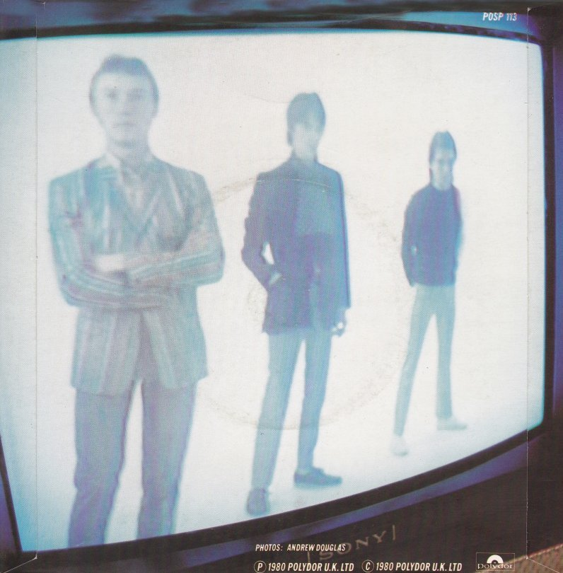 The Jam single Going Underground, back cover