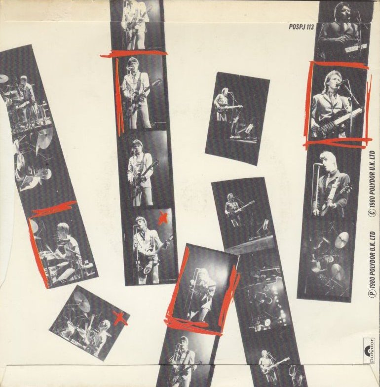 The Jam double single Going Underground, back cover