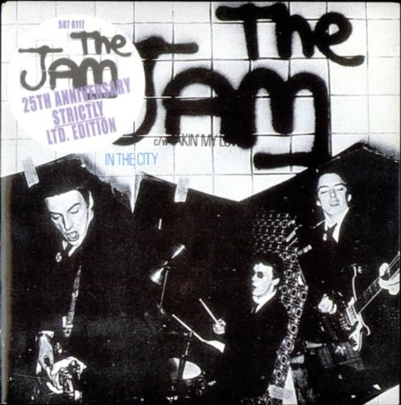 The Jam single In The City, the 25th Anniversary Edition - front cover