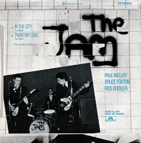 The Jam single In The City, back cover