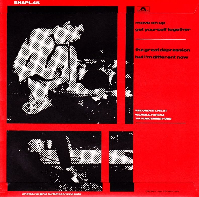 The Jam single Live EP, back cover