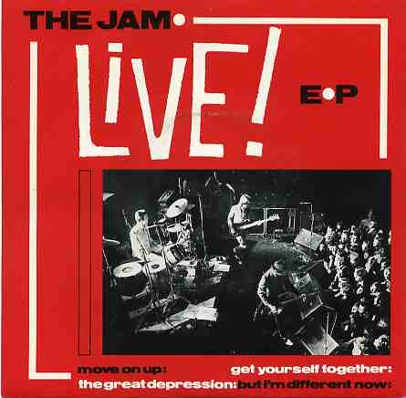 The Jam single Live EP, front cover