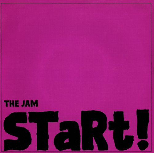 The Jam single Start, front cover
