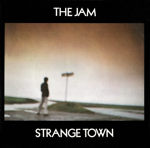 The Jam single Strange Town, front cover