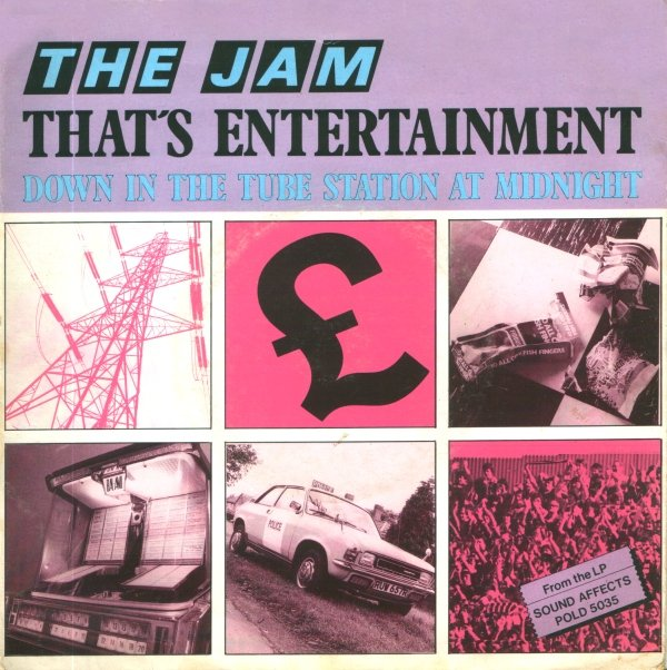 The Jam single That's Entertainment, front cover