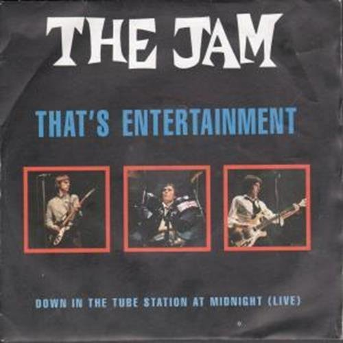 The Jam single That's Entertainment 1991 re-issue, front cover