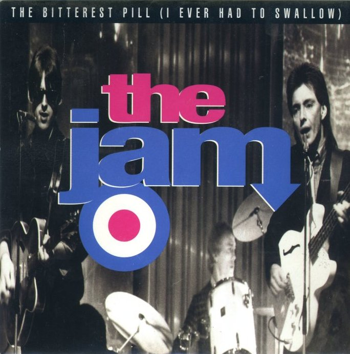 The Jam single The Bitterest Pill reissue, front cover