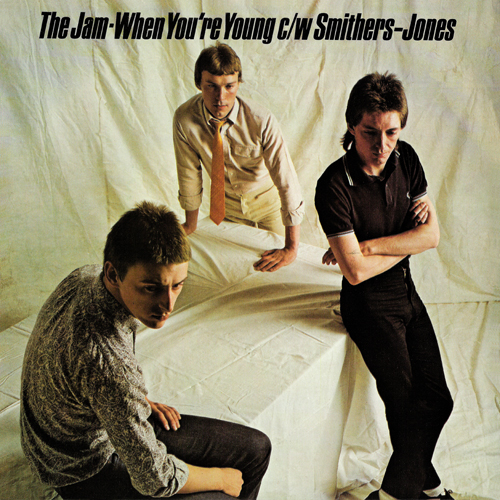 The Jam single When You're Young, front cover