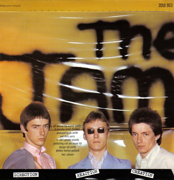 The Jam single All Around The World, back cover