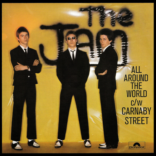 The Jam single All Around The World, front cover