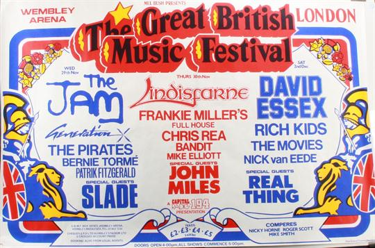 The Jam Live At The Wembley Arena, London - 29 November 1978 - Poster