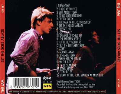 The Jam Bootleg - Set The Skies Ablaze - Back Cover